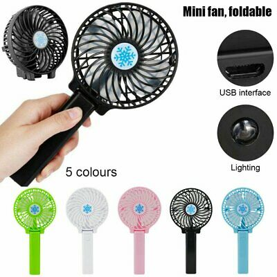 AU12.69 • Buy Mini Portable Hand-held Desk Fan Cooling Cooler USB Air Rechargeable Conditioner