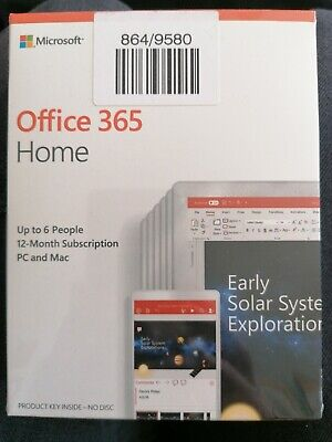 AU110.69 • Buy Office 365 Home Up To 6 People 12 Month Subscription Pc & Mac