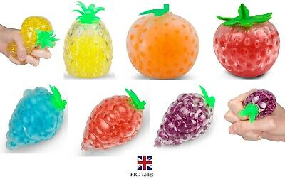 Fruit Jellyball Squeezy Squishy Gel Bead Stress Ball Stress Relief Kids Toy UK • 3.55£