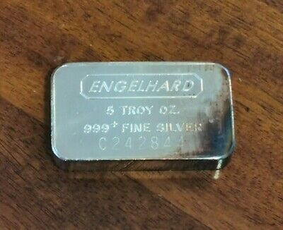 $ CDN199 • Buy Engelhard 5 Troy Oz 999+ Fine Silver Bar, Serial #: C242844