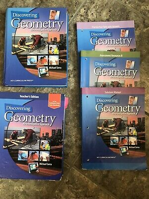 $48 • Buy DISCOVERING GEOMETRY An Investigative Approach COMPLETE SET Homeschool