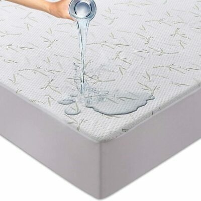 $ CDN20.56 • Buy Waterproof Mattress Protector Bamboo Hypoallergenic Breathable Fitted Bed Cover