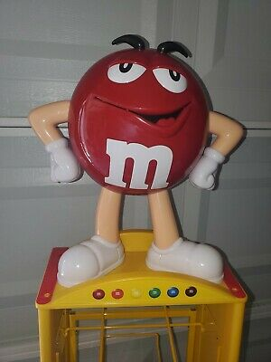 $600 • Buy Red M&M Store Candy Display 8 Shelf, Wheels, And 69  Tall Kyle Busch Cars