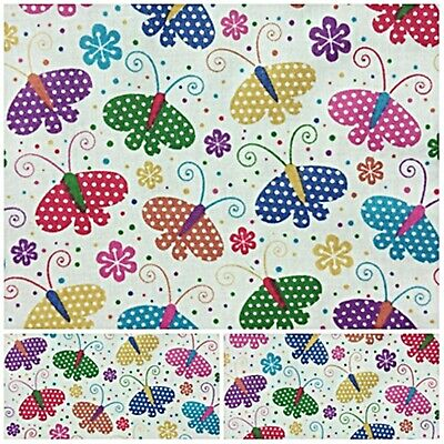£2.35 • Buy Polycotton Fabric Pretty Childrens Butterfly Sold Per Half Metre New Bunting