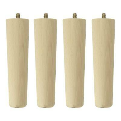 £9.49 • Buy 4 X Wooden Table Legs Tapered Pine Beech Ash Table Chair Stool Chest Sofa 4 Size