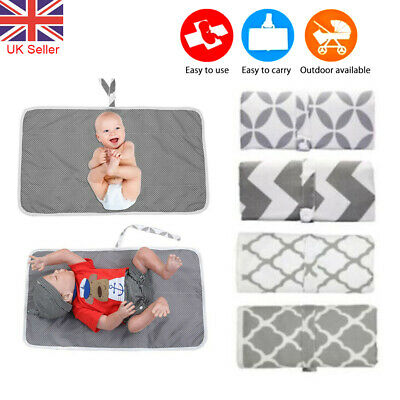Newborn Baby Portable Foldable Washable Travel Nappy Diaper Changing Mat 60*35 • 6.08£