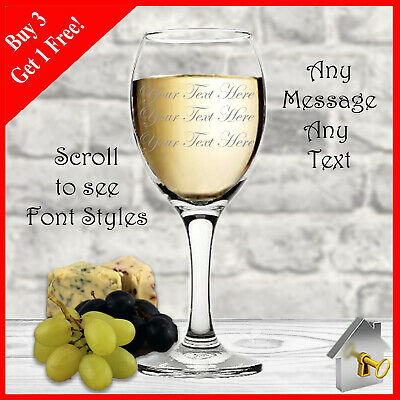 Personalised Wine Glass Birthday Gift Engraved 18th 21st 30th 40th 50th 60th • 7.55£