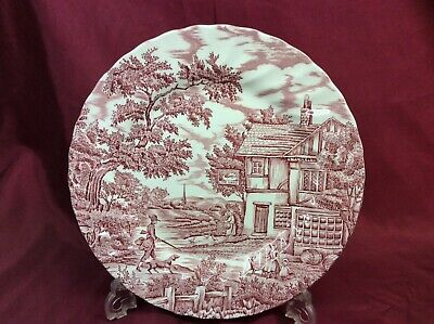 £15 • Buy Pink & White 10  Ceramic Plate, 'The Hunter By Mayott' (392)