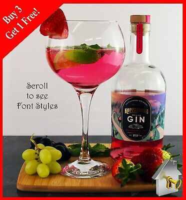 Personalised Gin Glass Engraved Birthday Gifts 18th 21st 30th 40th 50th 60th  • 9.99£