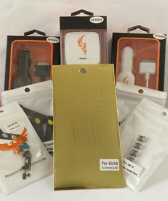 For Iphone 4g/4s Phone Accessories (Parts/ Tempered Glass/ Car Chargers Etc.) • 135£
