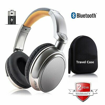 £24.77 • Buy Wireless Bluetooth Headphones Stereo Super Bass Headset Over The Ear With Case