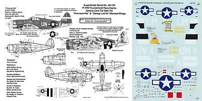 SUPERSCALE DECALS 1/48 P-47D Thunderbolt 62nd FS 63rd FS 56th FG Nose Art(USAAF) • 6.99£