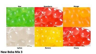 6 Packs Of Different Flavours Popping Boba Bursting Bubbles For Bubble Tea Mix 3 • 15.99£