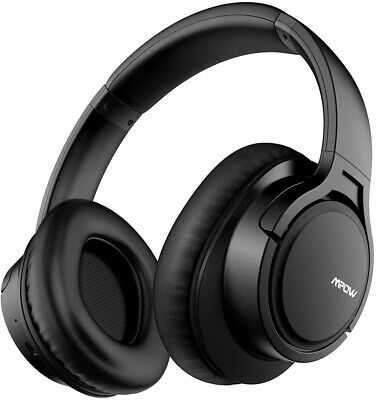 Wireless Headset Stereo Ear Headphones Bluetooth Music Gaming With Mic - Black • 38.99£