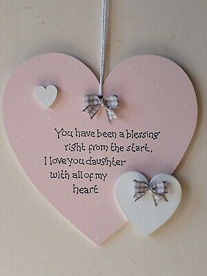 £6.50 • Buy  Personalised Daughter Mother Hanging Heart Sign Plaque