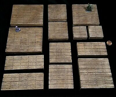 AU33.38 • Buy Wooden Dungeons And Dragons Dungeon Tiles Inch Grid Terrain Set D&d 28mm Wood