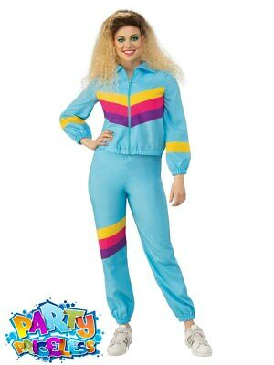Adult 80s Shell Suit Costume Ladies Scouser Tracksuit Womens Fancy Dress Outfit • 15.99£