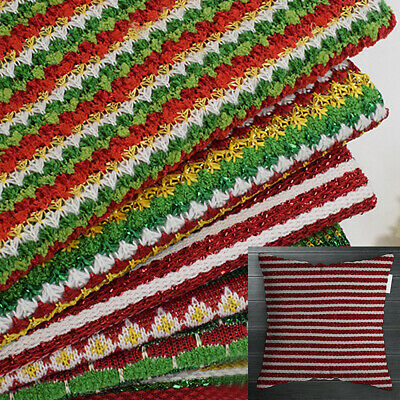 Knitted Woolen Fabric Thick Needle Jacquard Fabric Christmas Toy Costume Pillow • 5.98£