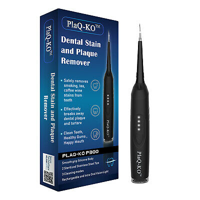 Dental Plaque Remover - UK Stain Removal Clean Tooth Teeth Whitening + Mirror • 22.90£