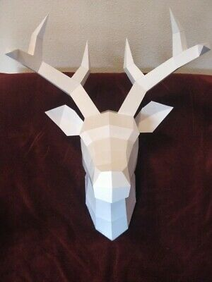 Home Statue Deer Head Decoration Accessories Vintage Antelope Head Abstract • 39.21£