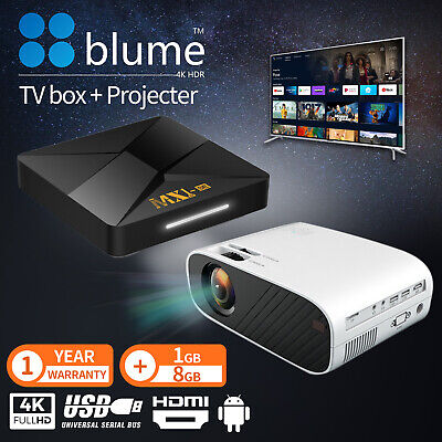 AU148.90 • Buy Portable HD 1080P Mini LED Movie Projector+TV Box Media Player Wifi Home Theatre