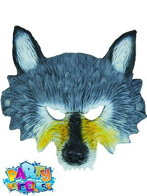 £5.49 • Buy Adult Kids Wolf Mask Half Face Animal Red Riding Fancy Dress Outfit Accessory