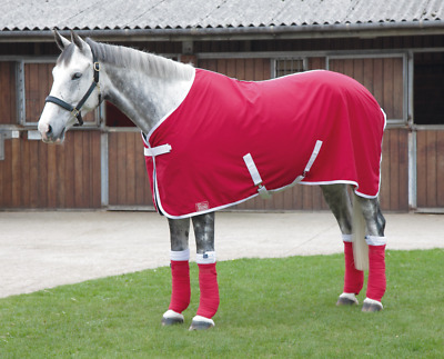 £29.99 • Buy Shires Premium Stable/Summer Sheet Red With White Trim 4ft 3