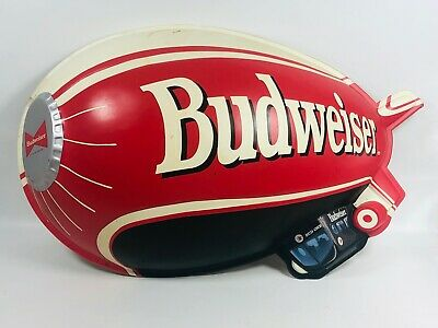 $ CDN98.21 • Buy Vintage Budweiser Beer Bud One Blimp Wall Sign Approx 24 X 15 Breweriana Mancave