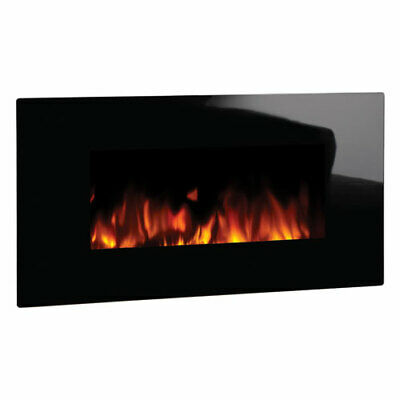 £279 • Buy Studio 2 Wall Mounted Electric Fire With Black Glass Frame