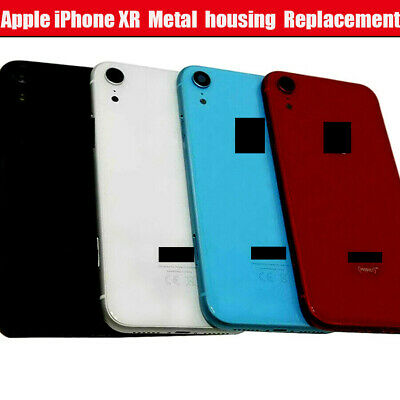 For IPhone XR 6.1  Metal Frame Back Chassis Housing Rear Glass Cover Replacement • 22.75£
