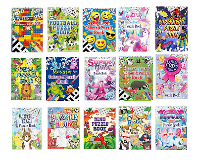 £1.99 • Buy  6 X Puzzle Activity Colouring A6 Books Kids Party Bag Fillers  Mixed Designs