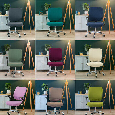 AU16.48 • Buy Split Office Chair Covers Stretch Computer Desk Seat Covers Slipcover Rotating