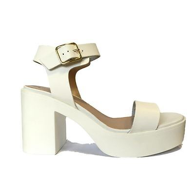 £9.99 • Buy Ladies Chunky Block High Heel Platform Buckle Sandals Shoes Party Size 3-9