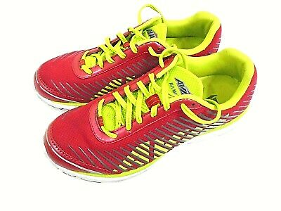 Mens Avia Running Shoes AVI Mantis Red & Lime Mens Uk Size 7 EU 41 • 14.99£