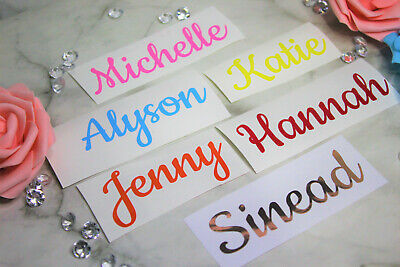 1,5,10,15  Personalised Custom Vinyl Decal Name Word 25 Colours Label Sticker(C) • 2.49£
