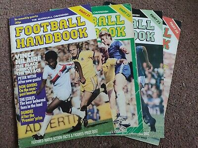 Marshall Cavendish Football Handbook Vol 21-24 • 5£