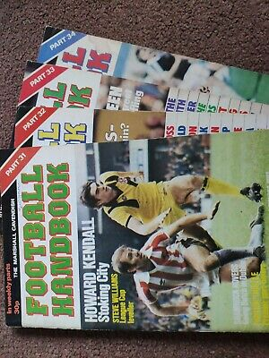Marshall Cavendish Football Handbook Vols 31-34 • 5£