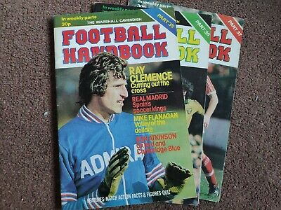 Marshall Cavendish Football Handbook Vols 35-37 • 4£