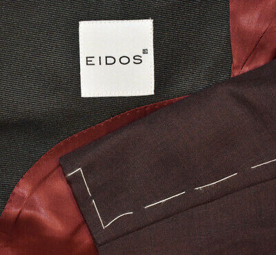 $ CDN348.14 • Buy NEW $1450 38R Eidos By Isaia Maroon Wine Peak Tuxedo Evening Blazer Jacket