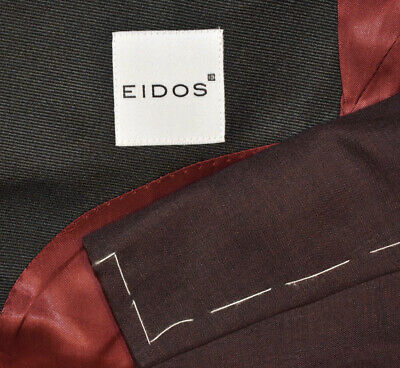 $ CDN348.14 • Buy NEW $1450 44R Eidos By Isaia Maroon Wine Peak Tuxedo Evening Blazer Jacket