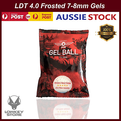 AU12.34 • Buy LDT 4.0 Frosted 7-8mm Gel Balls Warinterest Blaster Ammo Super Hardened Gels 7mm