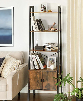 Industrial Ladder Shelf Vintage Retro Furniture Rustic Metal Bookcase Cabinet • 95.55£