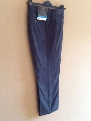 Mens Winter Navy Relaxed Fit Chino Trousers By Atlantic Bay/bhs 30r Bnwt • 9.99£