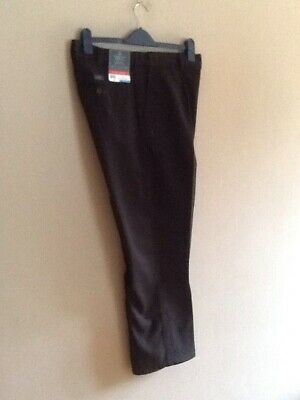 Mens Black Chino Pleat Front Trousers By Atlantic Bay/bhs 36r  Bnwt • 9.99£