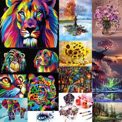 Oil Painting Kit Paint By Numbers Adult Children Beginners Frameless DIY Gifts • 8.12£