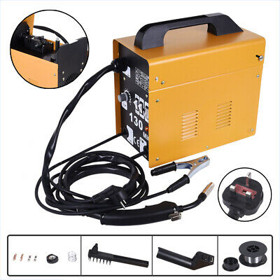Portable Welder MIG-130 No Gas Auto Wire Feed 230V Welding Machine Electric Kit • 89.69£