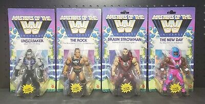 $119.32 • Buy Masters Of The WWE Universe The Rock Undertaker New Day Strowman Wave 3 Set
