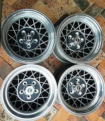 AU1595 • Buy Hotwires 14x7 14x8 Holden HK HT HG Torana LH LX SLR SS Wflares Polished New Caps
