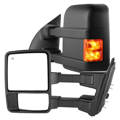 $142.70 • Buy Towing Mirrors For 1999-2007 Ford F250 F350 F450 F550 Super Duty Power Heated
