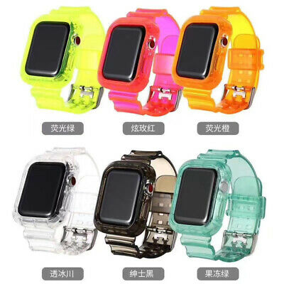 $ CDN14.71 • Buy Silicone Protection Case+Strap Watch Band For Apple Iwatch Series 5/4/3 40/44mm